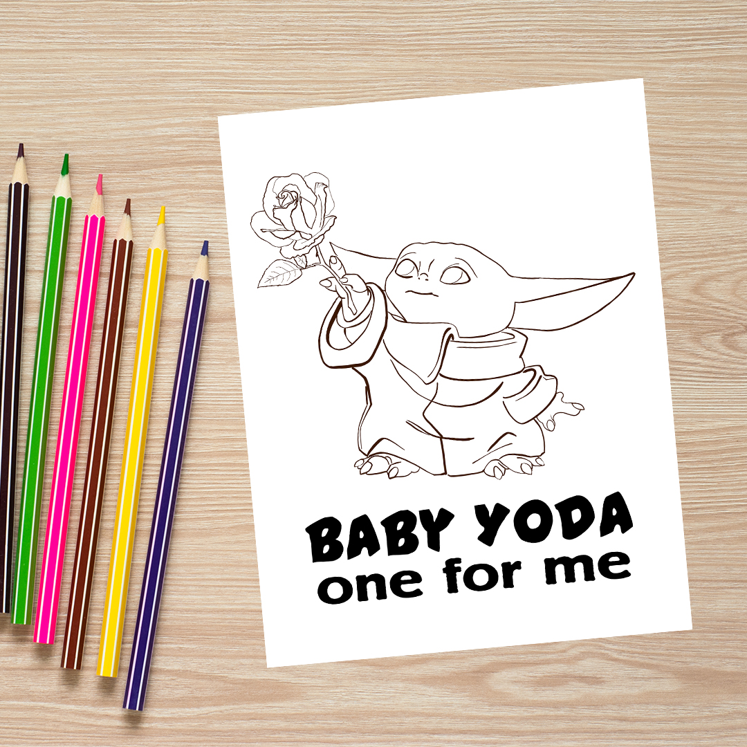 Baby Yoda Coloring Pages 2 Variations Printable Little With Great Love
