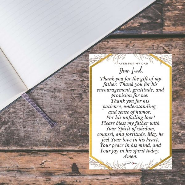 fathers day prayer cards