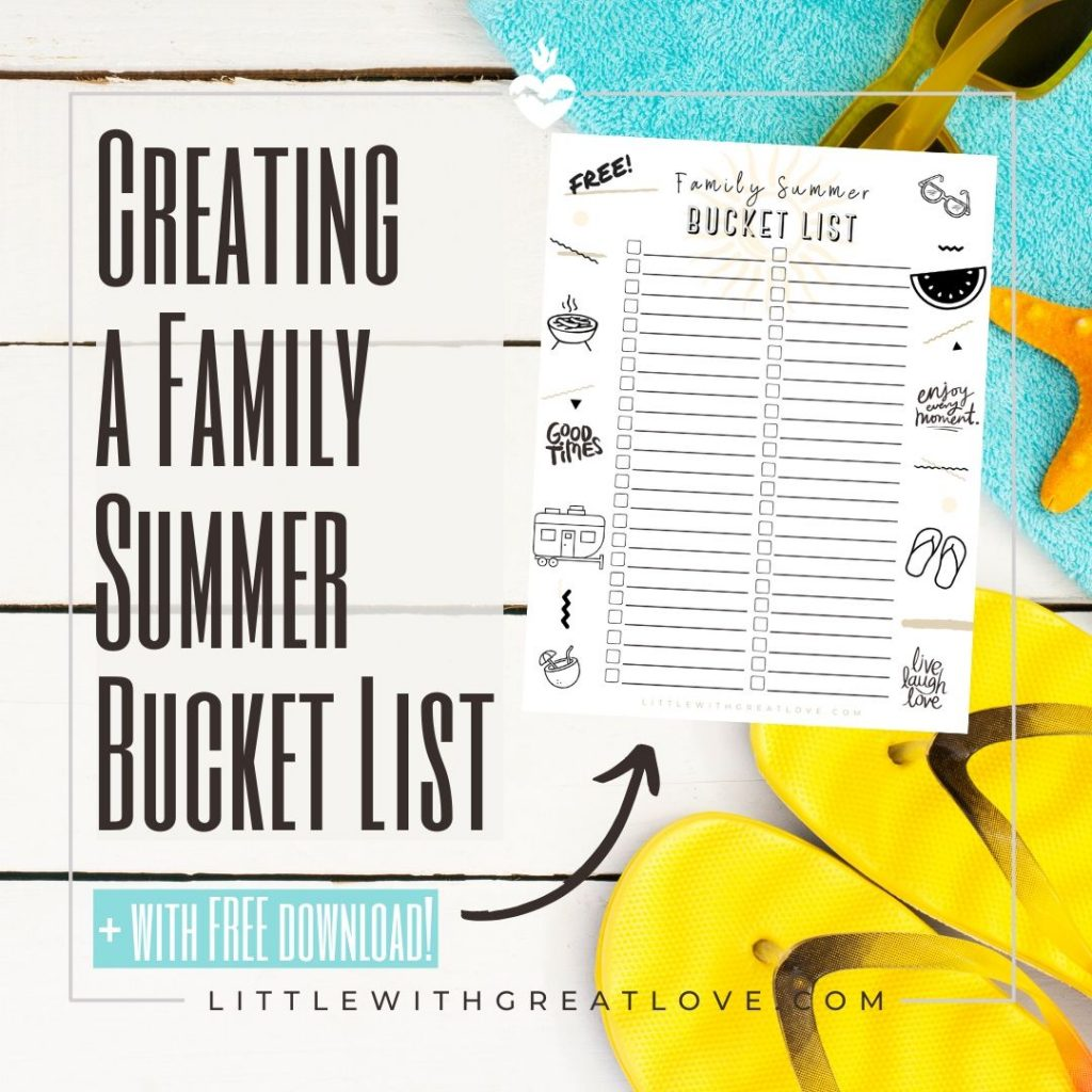 family summer bucket list download