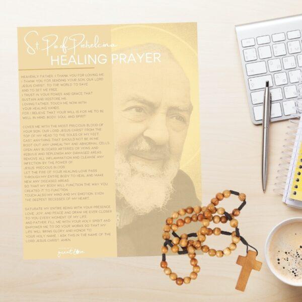 padre pio healing prayer